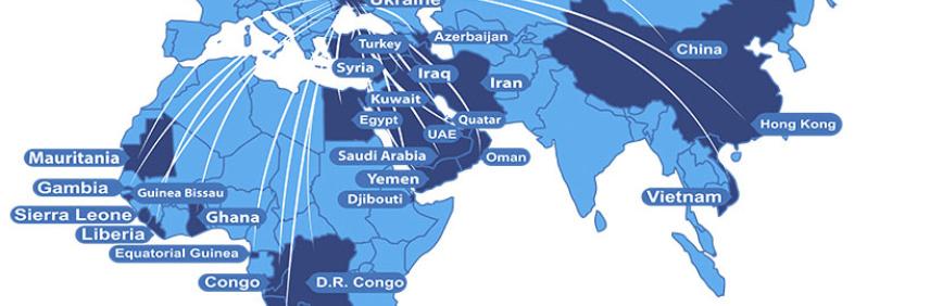 Carte d`exportation
